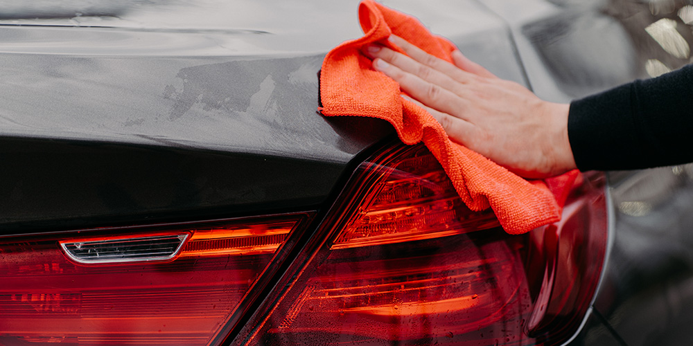Wipe dry with microfibre drying towels